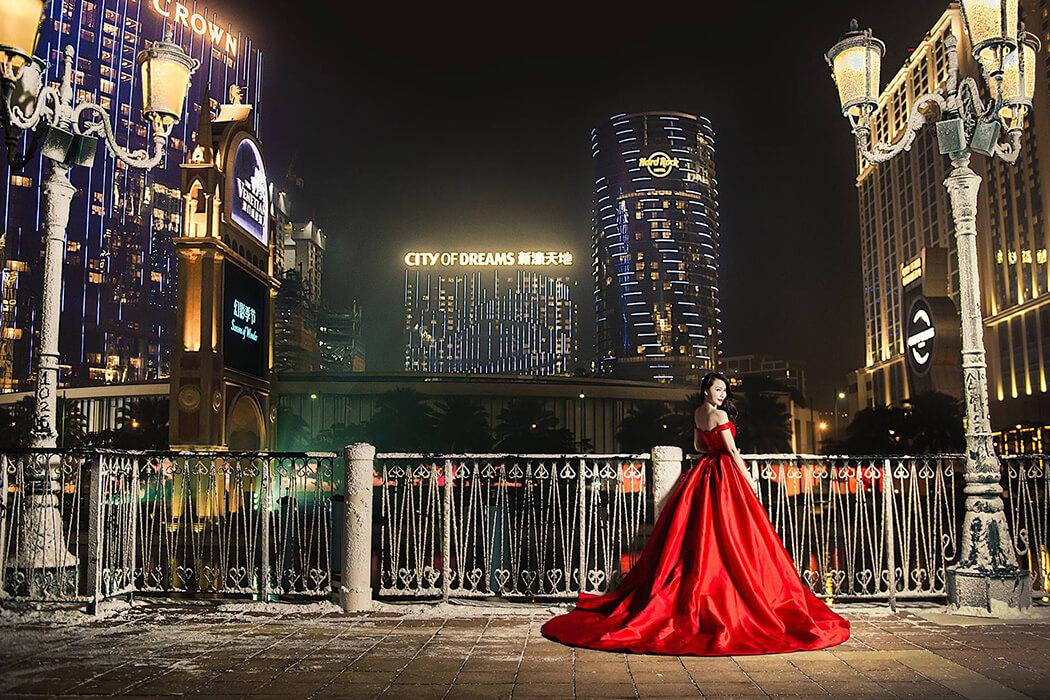 紅禮服 緞面禮服
