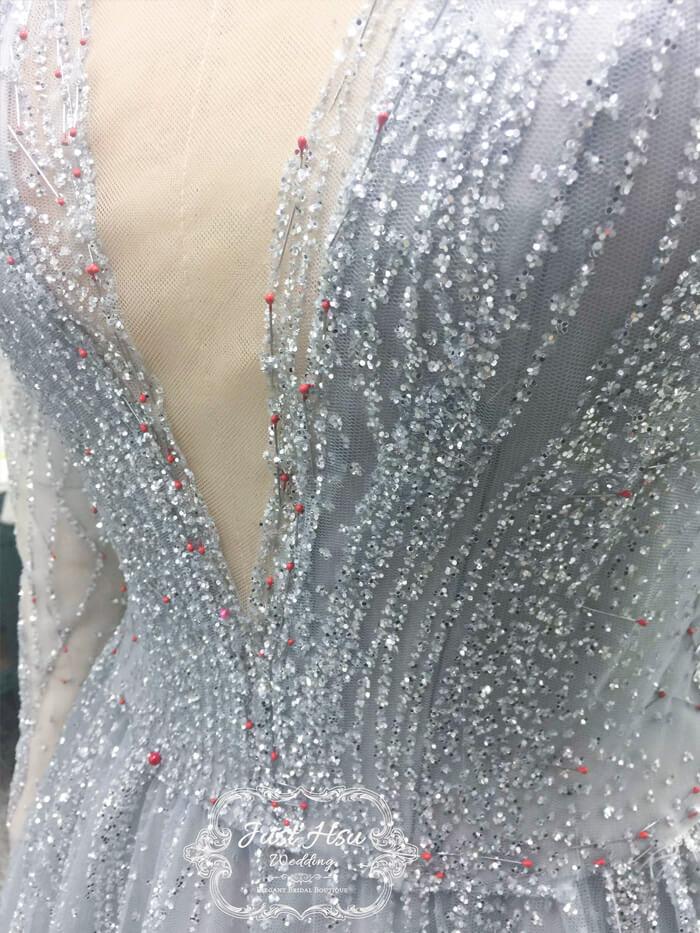 手工婚紗禮服珠繡工藝
