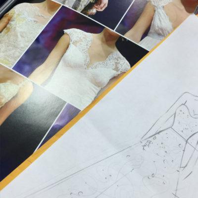 手工婚紗禮服設計稿