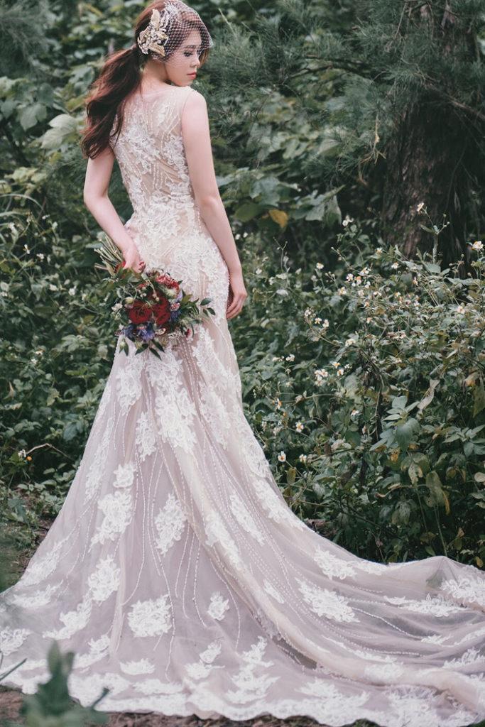 蕾絲手工婚紗,禮服