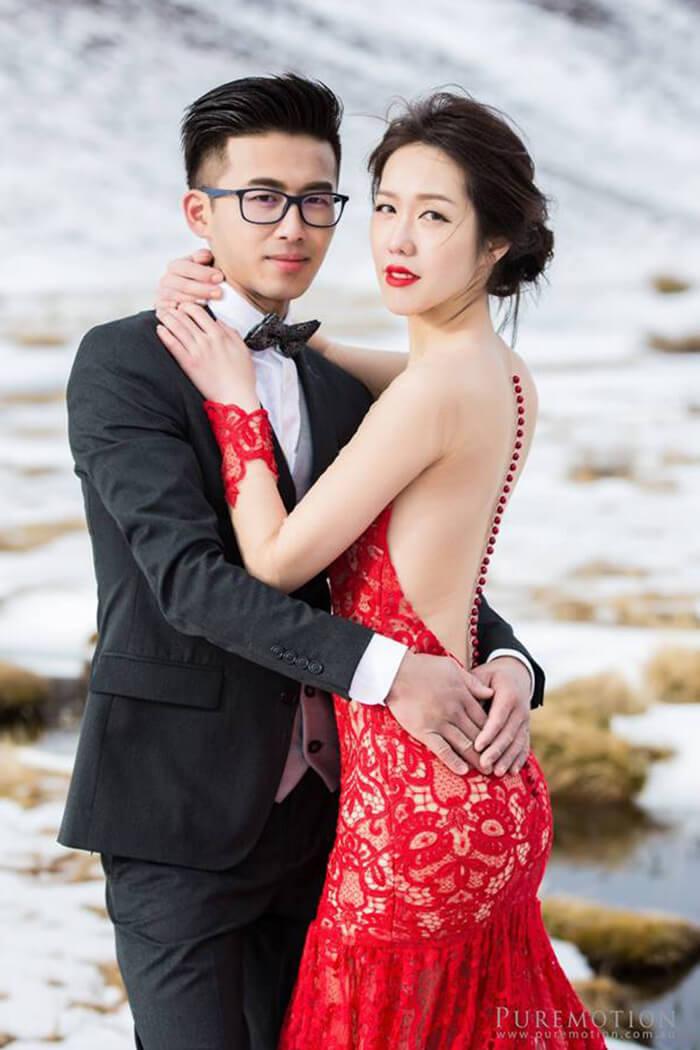海外婚紗攝影紅禮服