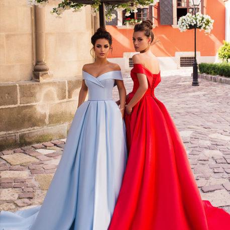 手工禮服-精緻緞面紅禮服