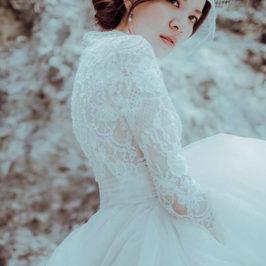 Just Hsu Wedding 純 蕾絲白紗 禮服,手工婚紗挑選推薦出租