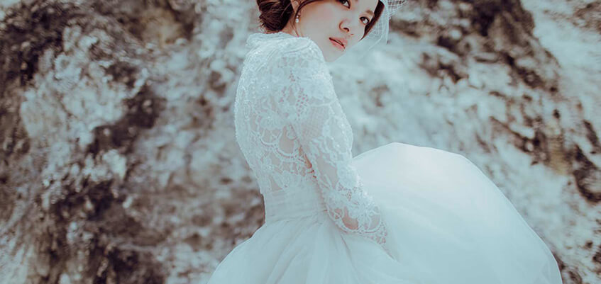 純 蕾絲白紗 禮服,手工婚紗挑選推薦出租