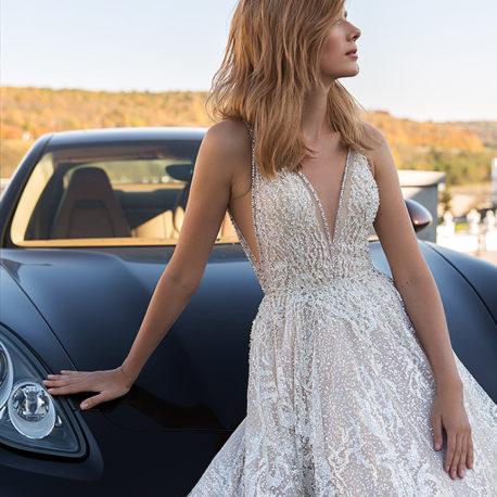 串珠亮片手工婚紗禮服