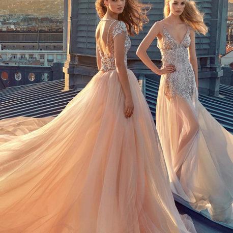 裸色婚紗禮服 亮片金屬