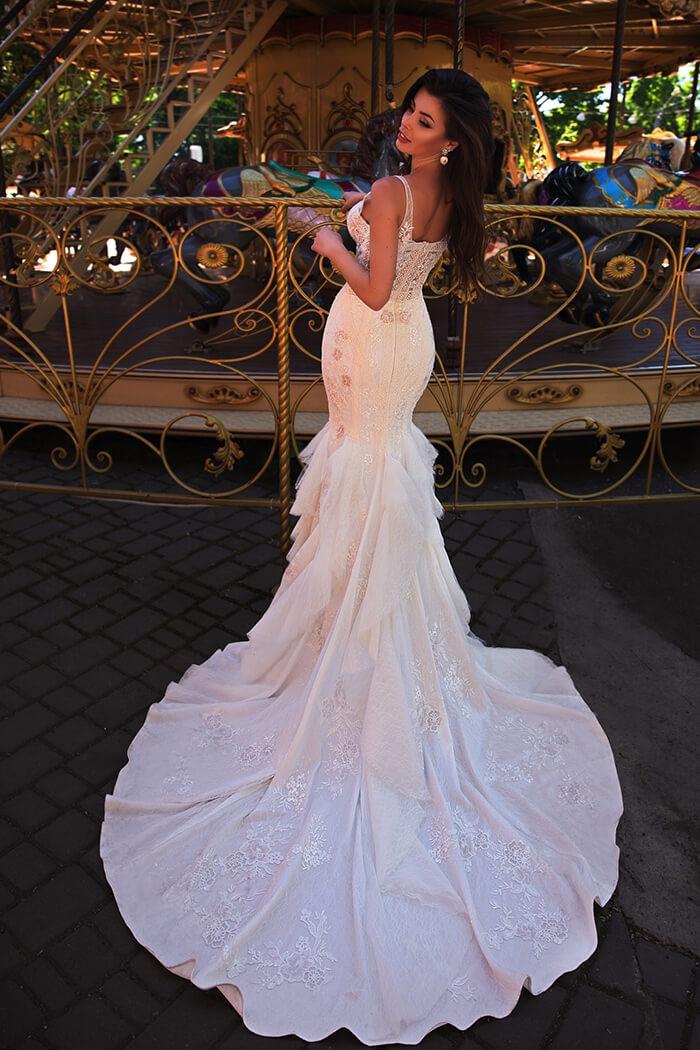極致魚尾蕾絲手工婚紗