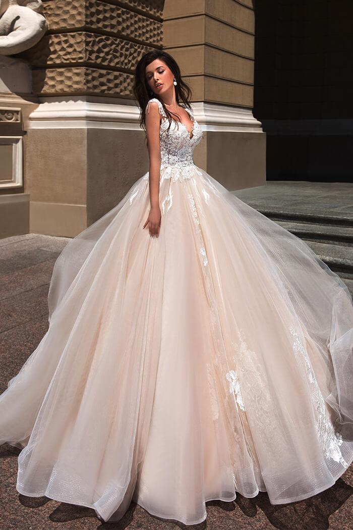 立體蕾絲手工白紗