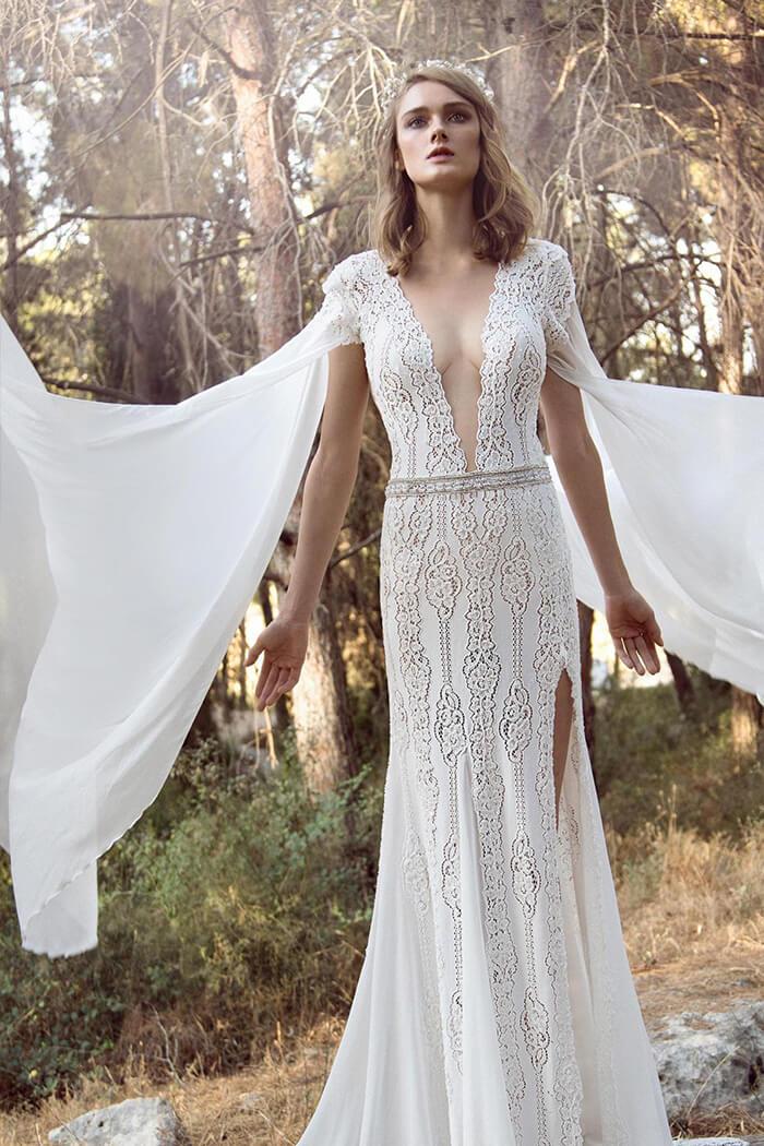 波希米亞風 新娘手工白紗