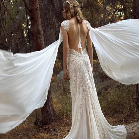 波西亞米風新娘手工白紗