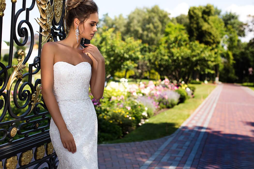 蕾絲魚尾手工婚紗,魚尾白紗