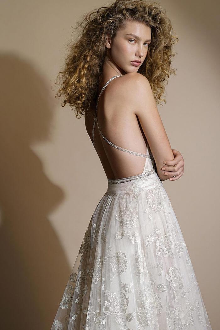 波希米亞風手工白紗