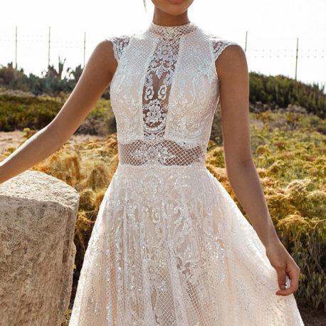 蕾絲新娘手工白紗